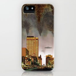 Happy human haunting iPhone Case