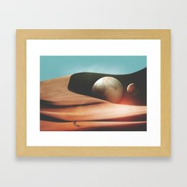 The only moment we were alone Framed Art Print