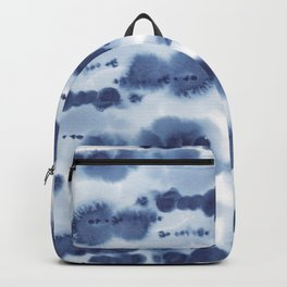 Navy Watercolour Abstract 1 Backpack