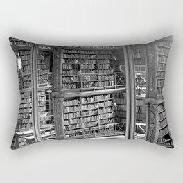 A Book Lover's Dream - Cast-iron Book Alcoves of Old Cincinnati Public Library Rectangular Pillow