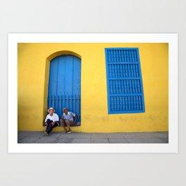Streets of Trinidad, Cuba Art Print