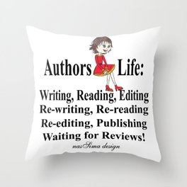 Authors Life by Lisy Throw Pillow