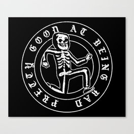 Pretty Good At Being Bad Canvas Print
