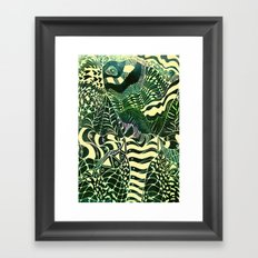 Elephant Butterfly Collection Framed Art Print