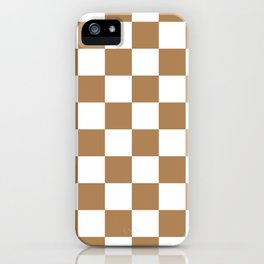 Checkered Pattern: Ginger iPhone Case