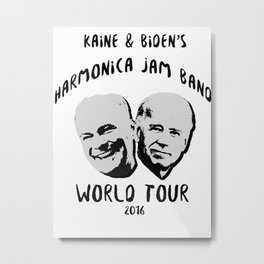 Biden and Kaine's Harmonica Jam Band Tour 2016 Metal Print