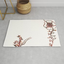 03. Flower Growth with Henna  Rug