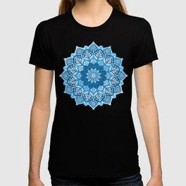 Boho Mandala in Cobalt Blue and White T-shirt