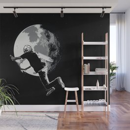 Tailing the Moon - Tail-whip Scooter Stunt Wall Mural