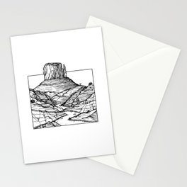 Monument Valley Hand Drawing Stationery Cards