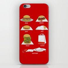 Seven Deadly Hamburgers iPhone & iPod Skin