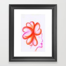 She Was All Heart, It Was Plain to See Framed Art Print