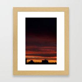 Black sunset Framed Art Print