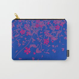 Bisexual Pride Scattered Falling Flowers and Leaves Carry-All Pouch