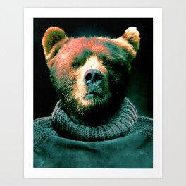 Working Bear Art Print