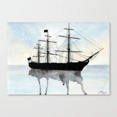 HMS Victory Watercolour Canvas Print