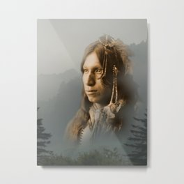 Peter Iron Shell, Sioux Indian Metal Print