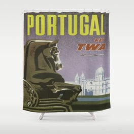 Vintage poster - Portugal Shower Curtain