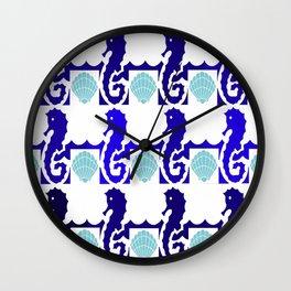 Seahorses & Shells 1 Wall Clock