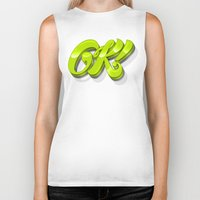 kim sy ok Biker Tanks featuring Ok by Roberlan Borges