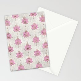 Lotus flowers pattern - pastels Stationery Cards