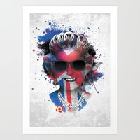 deadmau5 Art Prints featuring Queen Listen Music by Sitchko Igor