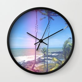 Fragmented Palm Wall Clock