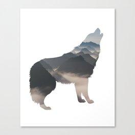 Wilderness Trough the Wolf Canvas Print