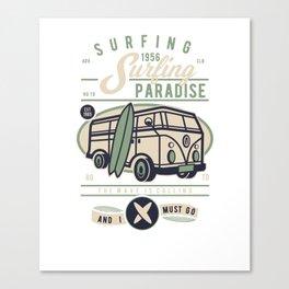 Surfing Paradise Vintage Surf 1956 Canvas Print