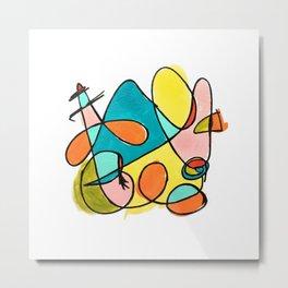 Abstracta I Metal Print