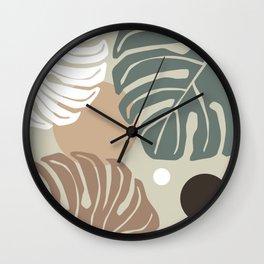 Monstera giant Wall Clock