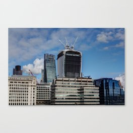 The walkie Talkie and Cheese Grater Canvas Print
