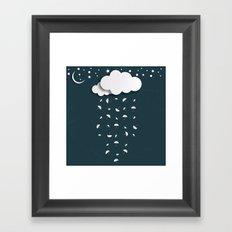 It's raining umbrellas Framed Art Print