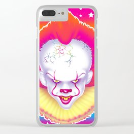 1997 It's That New Scary Clown Clear iPhone Case