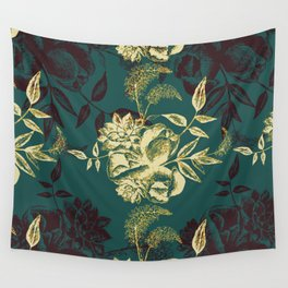 Illustrations of Florals Wall Tapestry