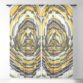 Racing Through An Abstract World Sheer Curtain
