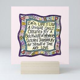 Quilt Quote II Mini Art Print