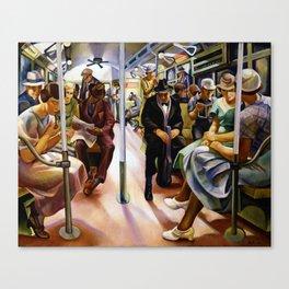 American Masterpiece 'Subway' by Lily Furedi Canvas Print