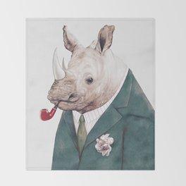 Rhinoceros Throw Blanket