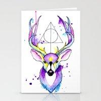 harry potter Stationery Cards featuring Harry Potter Patronus by Simona Borstnar
