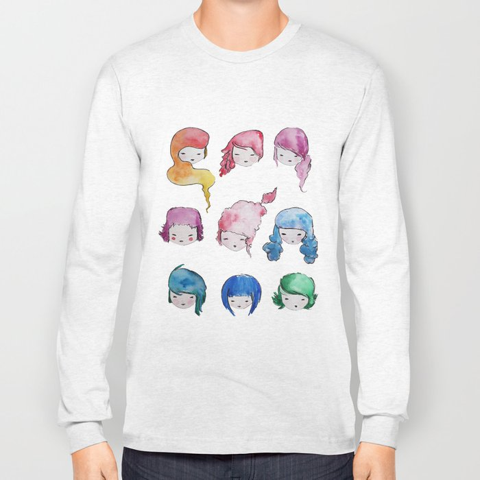 does my head look big in this? Long Sleeve T-shirt