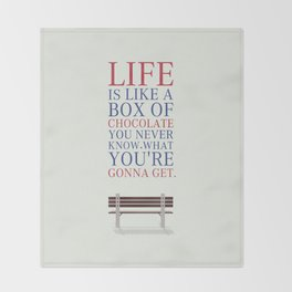 Lab No. 4 - Forrest Gump Movies Inspirational Quotes Poster Throw Blanket