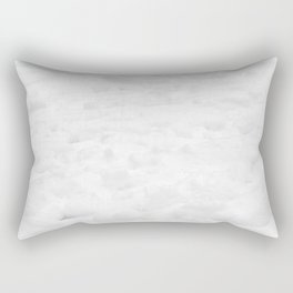 Snow Field // Winter Snow Landscape Photo Close Up Black and White Texture Snowflake Vibes Rectangular Pillow