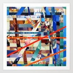 Gwenola (stripes 24) Art Print