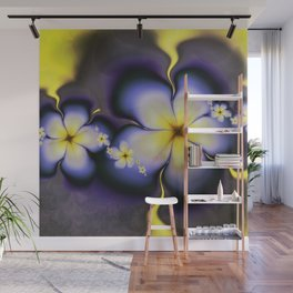 Petite Fleur Jaune Fractal Wall Mural