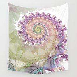 Watercolor Fibonacci Spiral Wall Tapestry