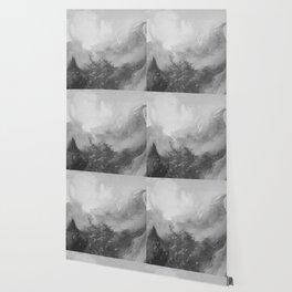 Mountain Views b/w Wallpaper