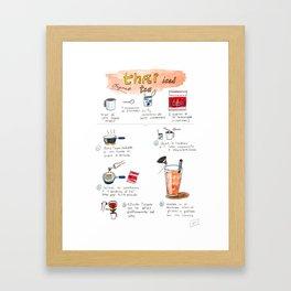 Thai Iced Tea Framed Art Print