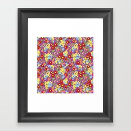 Purple Floral Pattern Framed Art Print