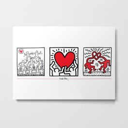 Keith Haring - Untitled (1987): Rare Limited Edition Metal Print